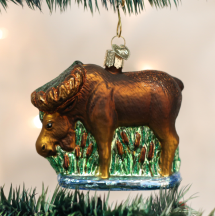 Munching Moose Ornament