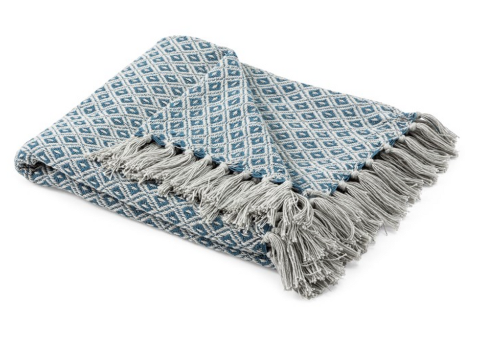 Blue Handwoven Throw