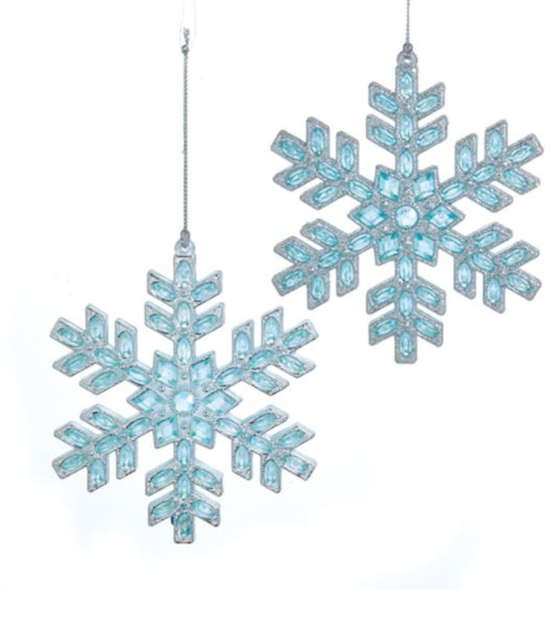 Blue & Silver Snowflake Ornament