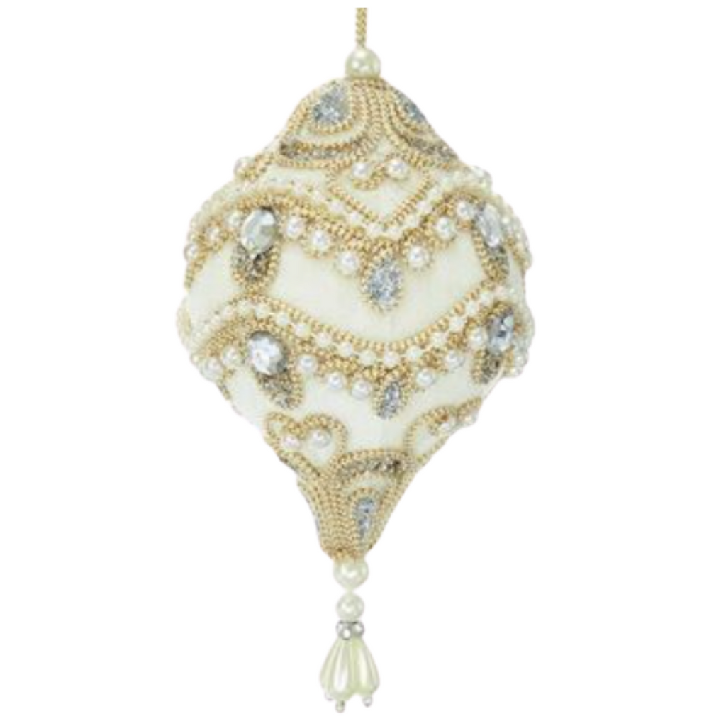 Ivory Velour Ornaments