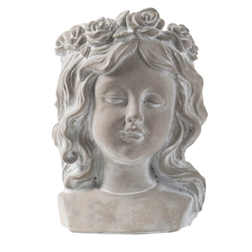 Girl Planter Head