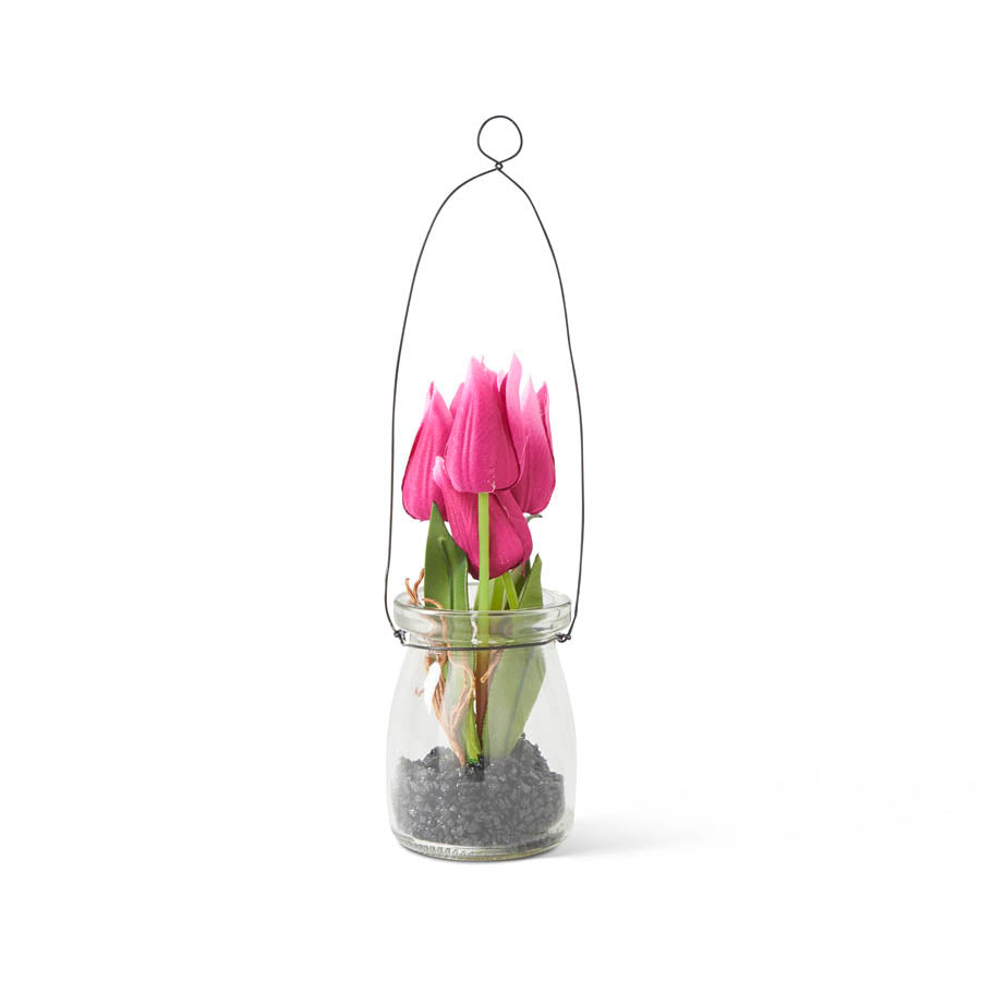 "8"" Mini Tulip in Glass Bottle"
