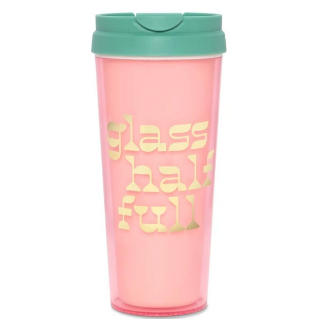 Glass Half Full Thermal Mug