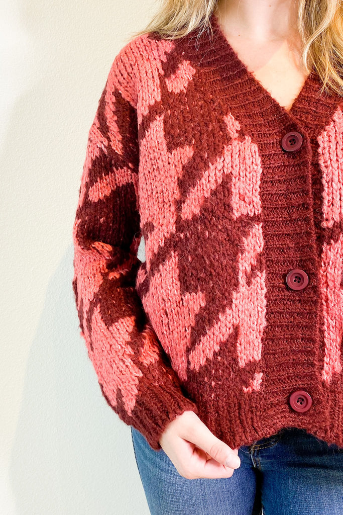 Berry Burgundy Cardigan