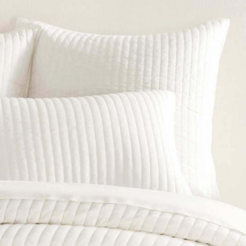 COMFY COTTON DOVE WHITE QUILTED SHAM