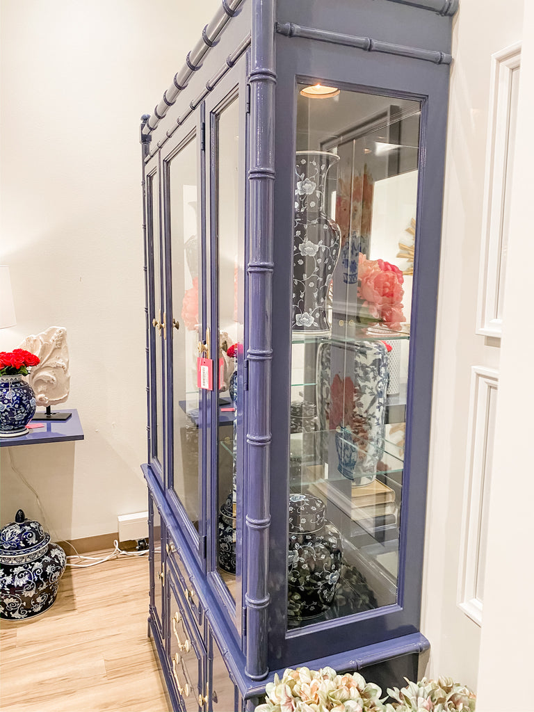 Blue Bamboo China Cabinet