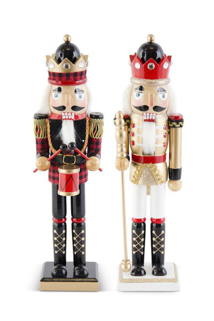 Set of 2 Crowned Nutcrackers