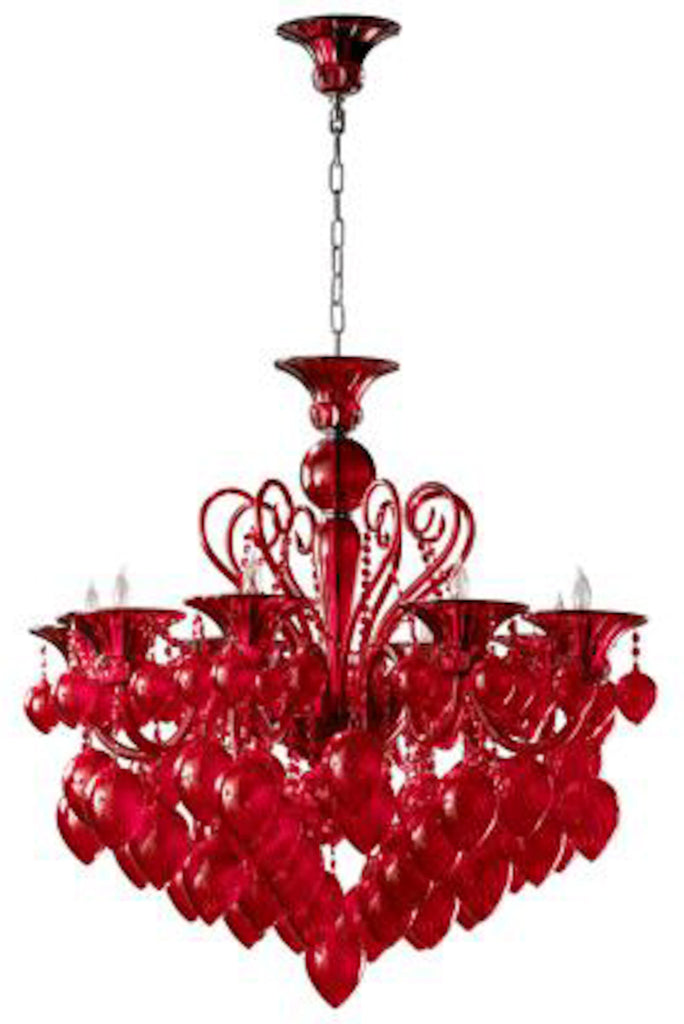 BELLA VETRO RED CHANDELIER
