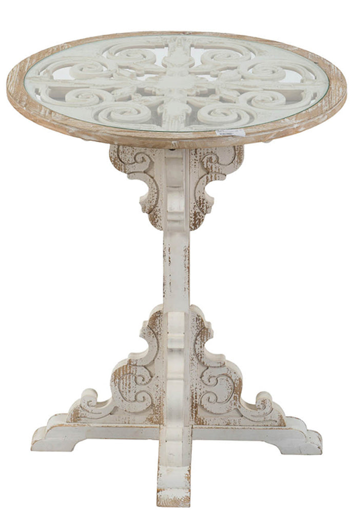 Distressed Pedestal Table