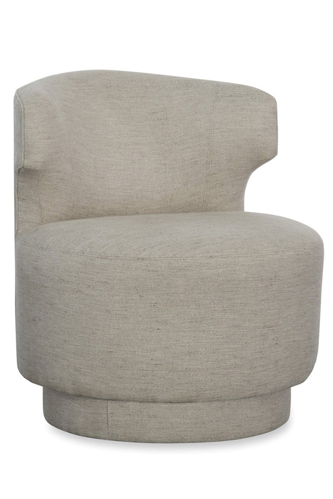 Crofton Swivel Chair in Stone Slither
