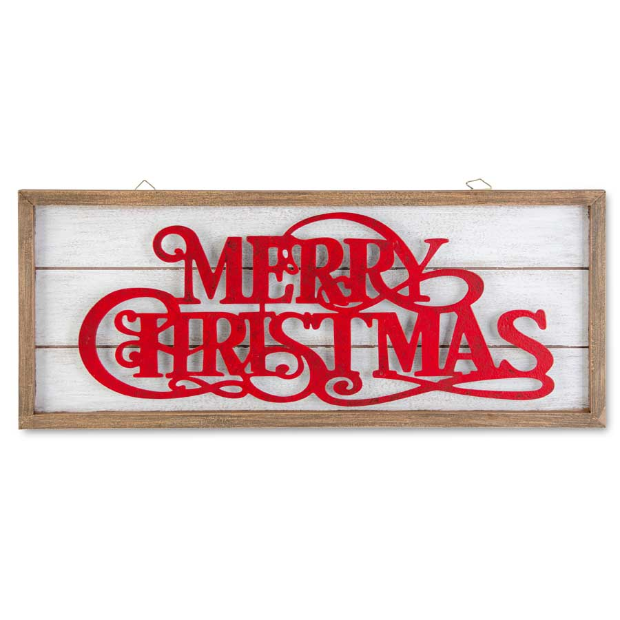 Framed Wood with MERRY CHRISTMAS
