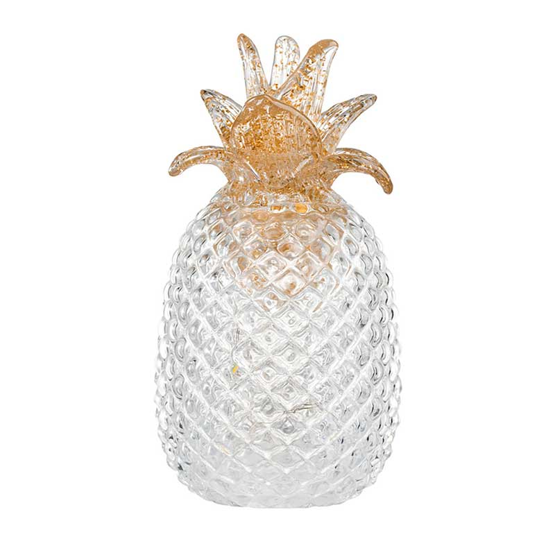 Large Glass Pineapple Light