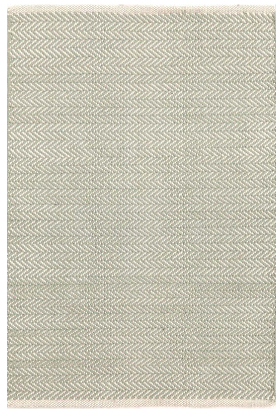 Herringbone Ocean Cotton Rug