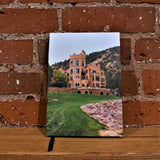 Journal with an image of Glen Eyrie Castle on the front.