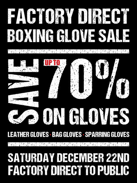 Factory Direct Boxing Glove Sale