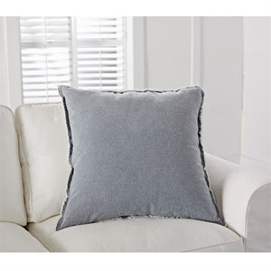 Grey Washed Canvas Pillow