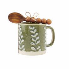 Load image into Gallery viewer, Vine Stoneware Mug + Spoon