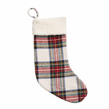 Load image into Gallery viewer, Tartan + Sherpa Stocking