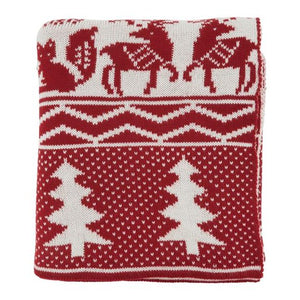 Christmas Knitted Throw