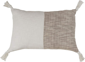 Two Tone Tasseled Pillow
