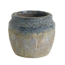 Load image into Gallery viewer, Blue Textured Ceramic Pot