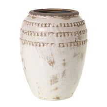 Load image into Gallery viewer, Crackled Cream Terra Cotta Pot