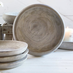 Grey Paulownia Wood Bowl