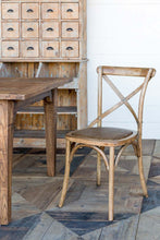 Load image into Gallery viewer, Reclaimed Oak Cross Back Chair