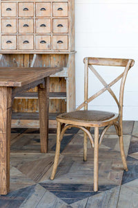 Reclaimed Oak Cross Back Chair