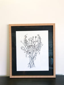 Floral Matted Art Print
