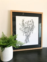 Load image into Gallery viewer, Floral Matted Art Print