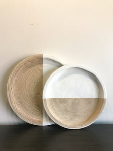 Wood + White Paulownia Tray