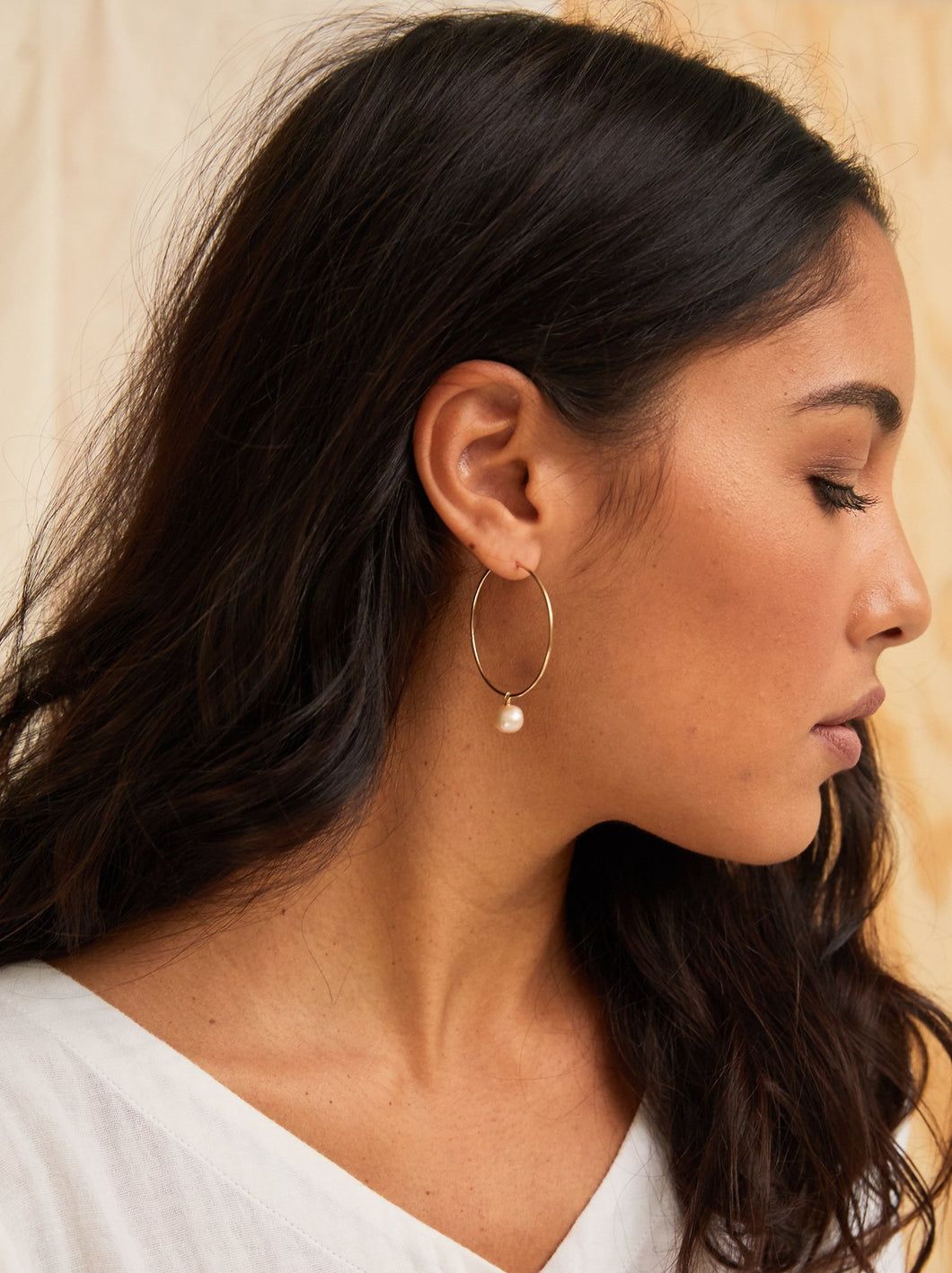 Pearl Adornment Hoops