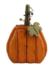 Load image into Gallery viewer, Wood + Tin Pumpkin