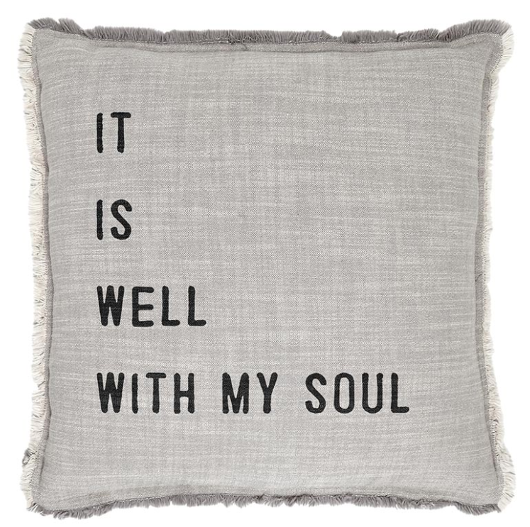 Euro Pillow-It Is Well With My Soul