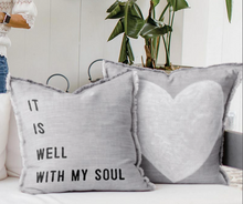 Load image into Gallery viewer, Euro Pillow-It Is Well With My Soul