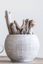 Load image into Gallery viewer, Cream Terra-cotta Textured Planter