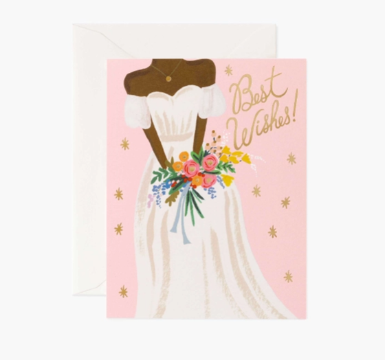 Beautiful Bride Rose // Wedding Card
