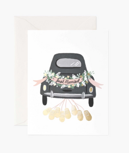 Just Married // Wedding Card