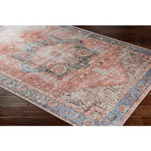 Load image into Gallery viewer, Terracotta & Pale Blue Rug
