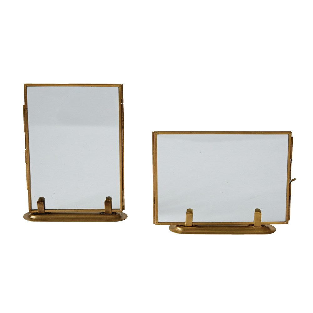 Brass & Glass Standing Photo Frame