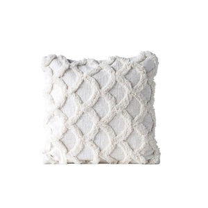 "18"" Square Cotton Chenille Pillow"