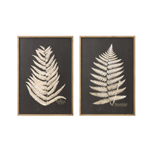 Load image into Gallery viewer, Black +Wood Framed Fern Print