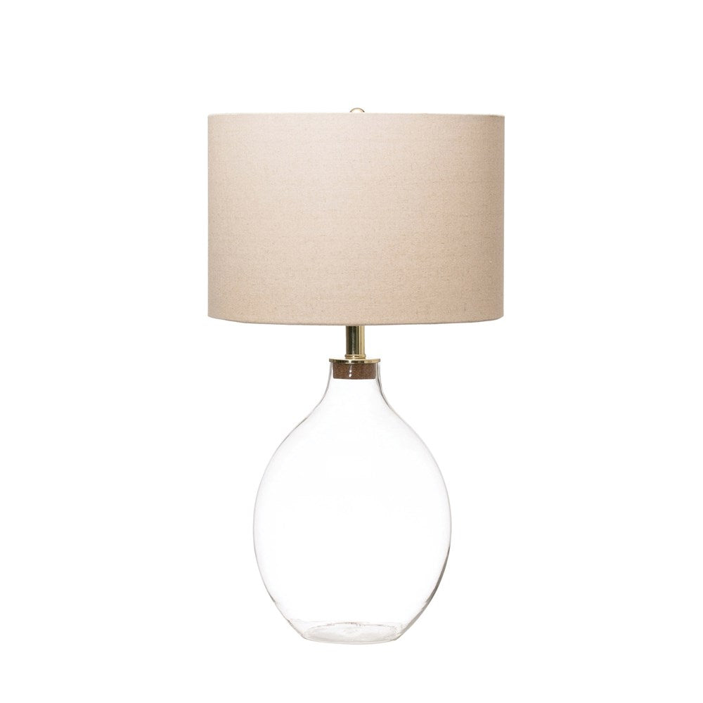 Fillable Glass Table Lamp