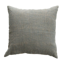 Load image into Gallery viewer, Blue Woven Cotton & Linen Striped Pillow