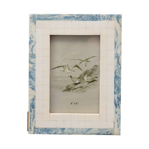 Blue + Ivory Resin Photo Frame