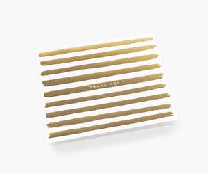 Gold Stripes Card