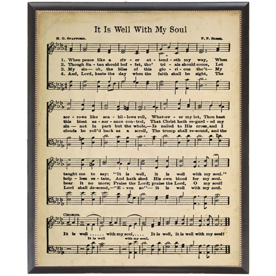 Framed Hymn Sheet Music 18