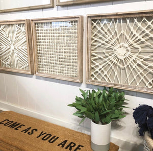Wood Framed Handmade Paper Wall Decor //3 Styles