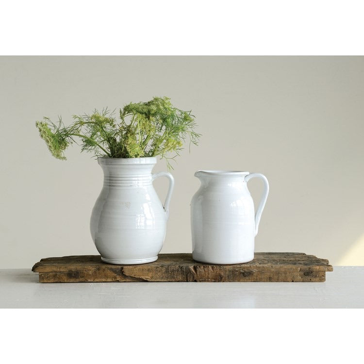 White Terra-cotta Pitcher